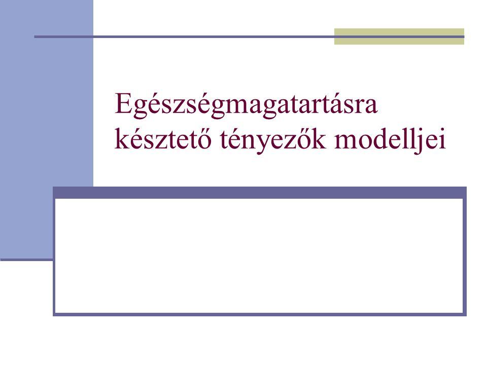 Egészségmagatartásra késztető tényezők modelljei