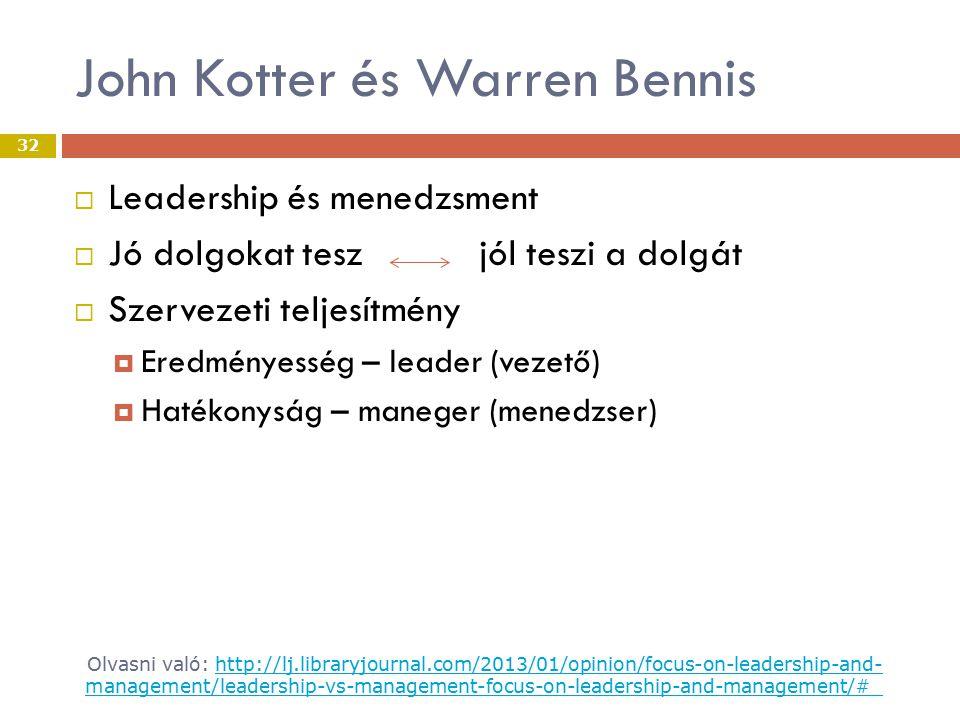 John Kotter és Warren Bennis