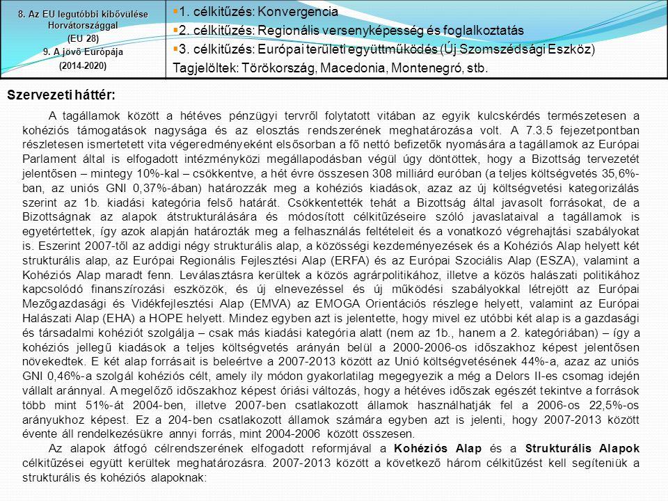 8. Az EU legutóbbi kibővülése Horvátországgal
