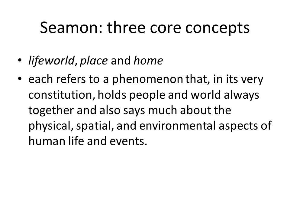Seamon: three core concepts