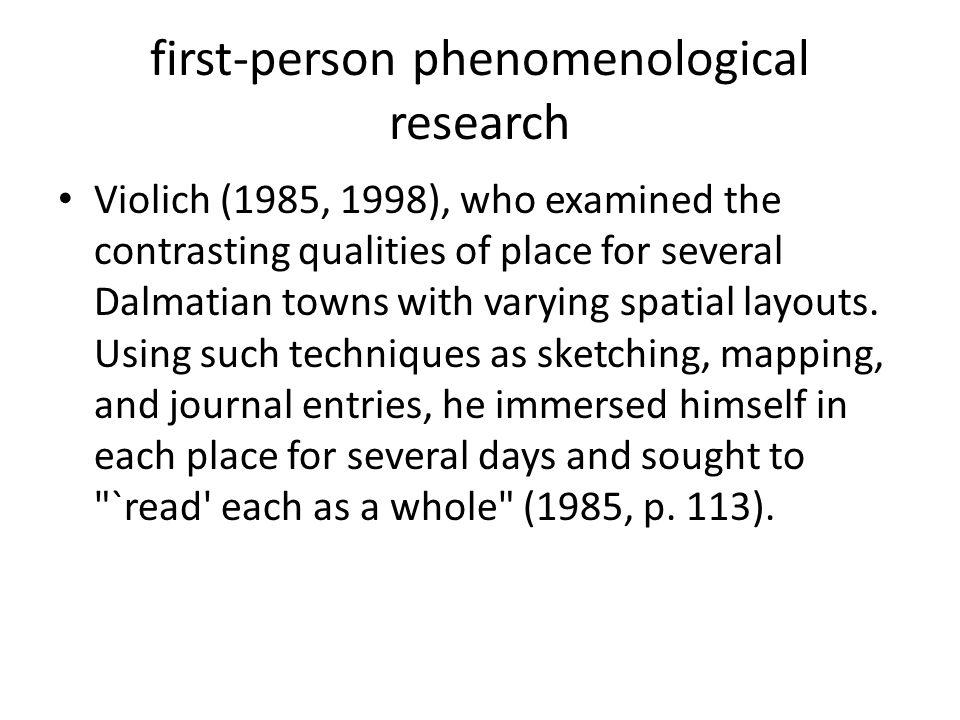 first-person phenomenological research