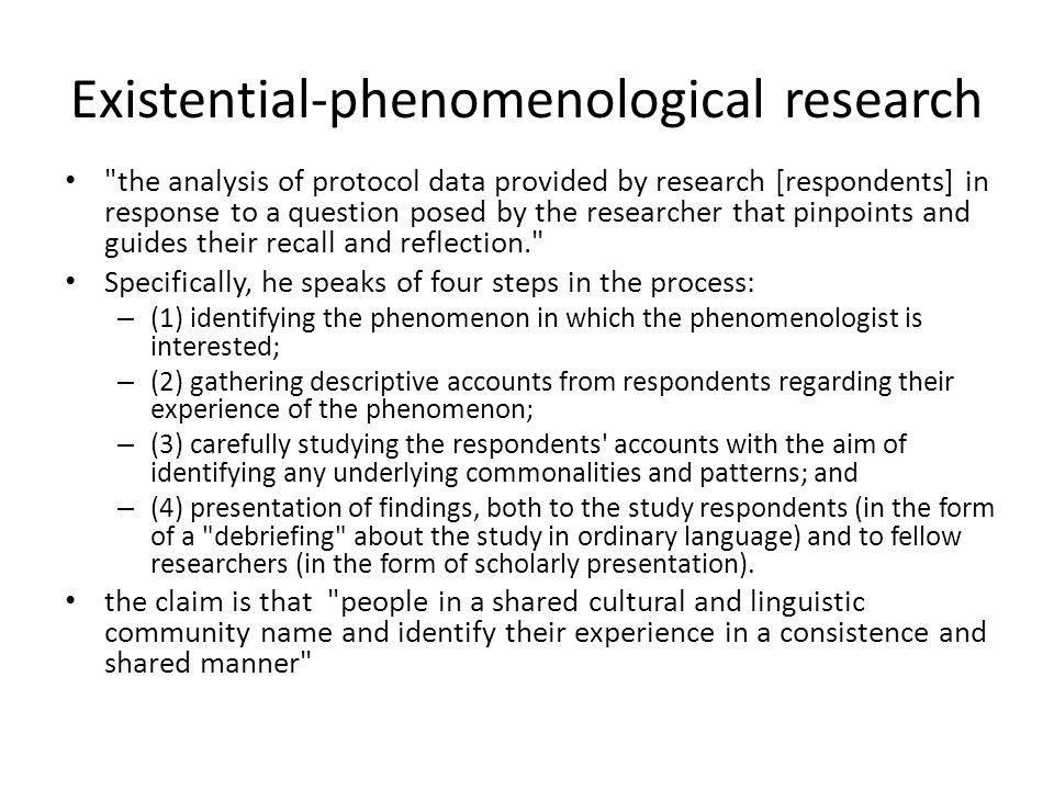 Existential-phenomenological research