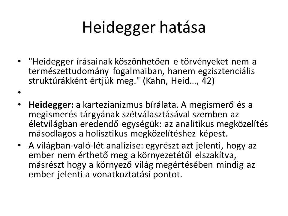 Heidegger hatása
