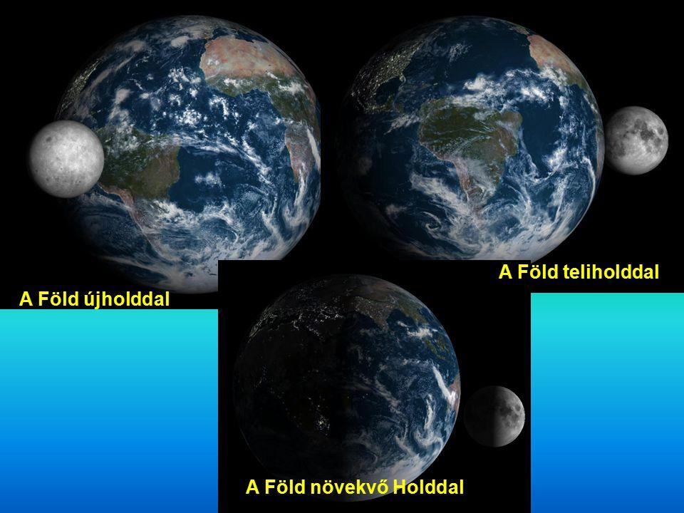 A Föld teliholddal A Föld újholddal A Föld növekvő Holddal