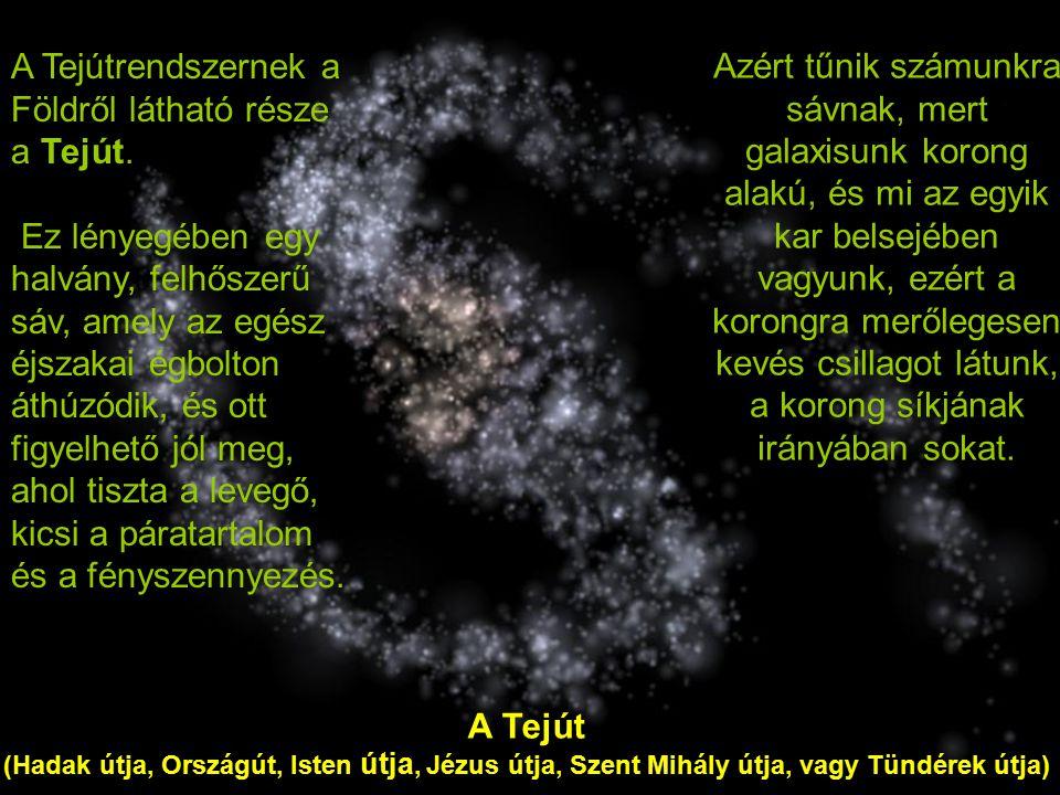 A Tejútrendszernek a Földről látható része a Tejút.