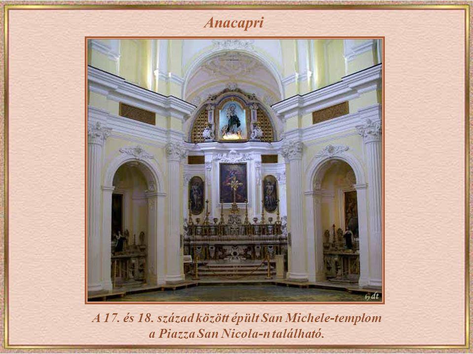 Anacapri A 17. és 18. század között épült San Michele-templom a Piazza San Nicola-n található.