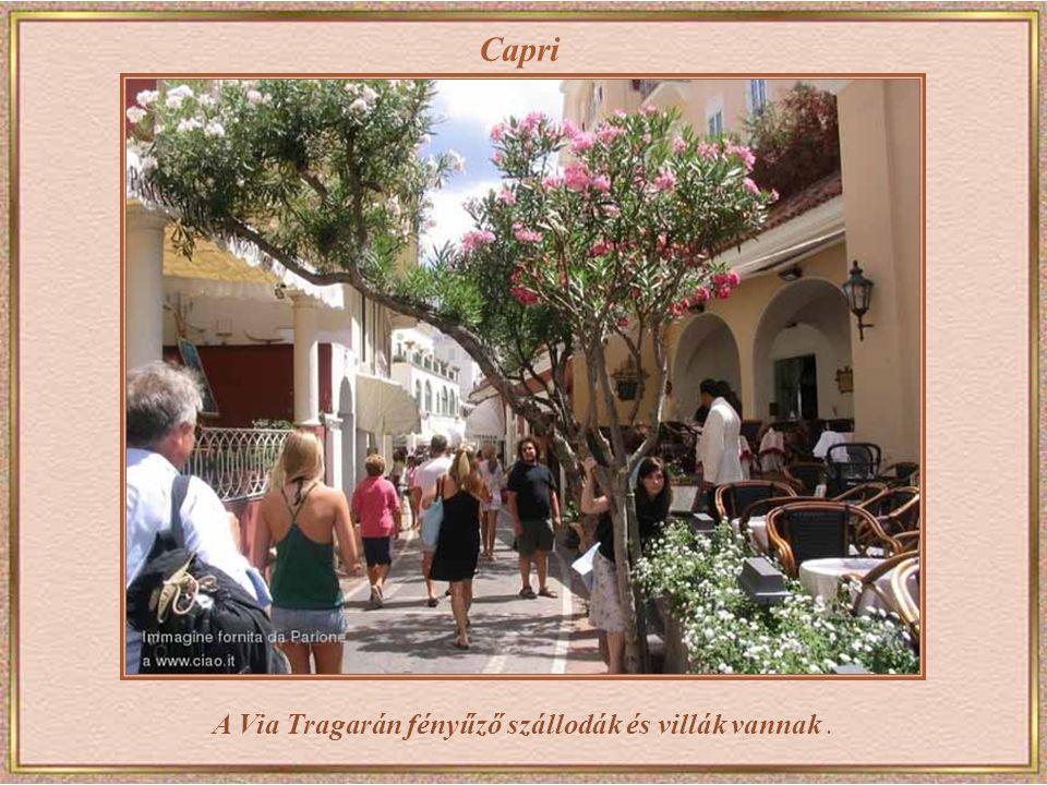 A Via Tragarán fényűző szállodák és villák vannak .