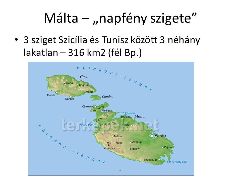 """Málta – """"napfény szigete"""