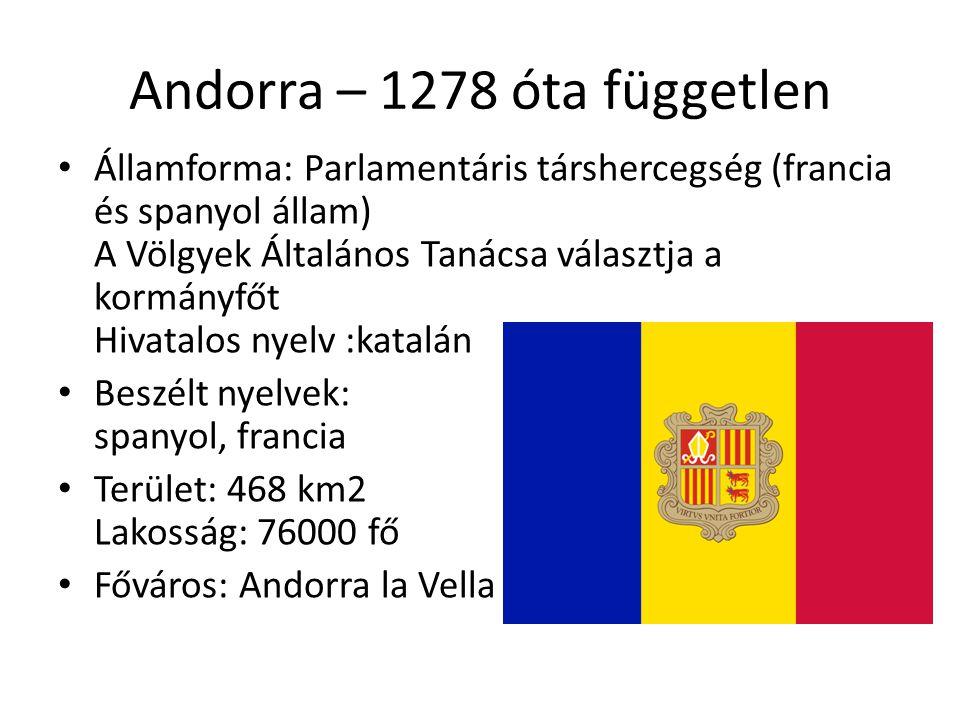 Andorra – 1278 óta független