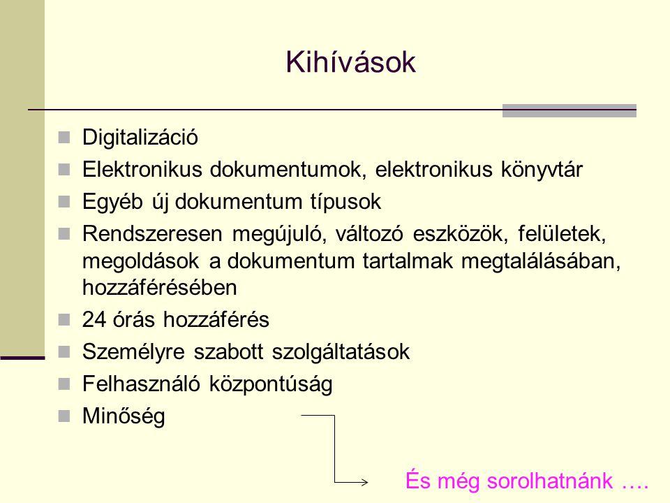 Kihívások Digitalizáció