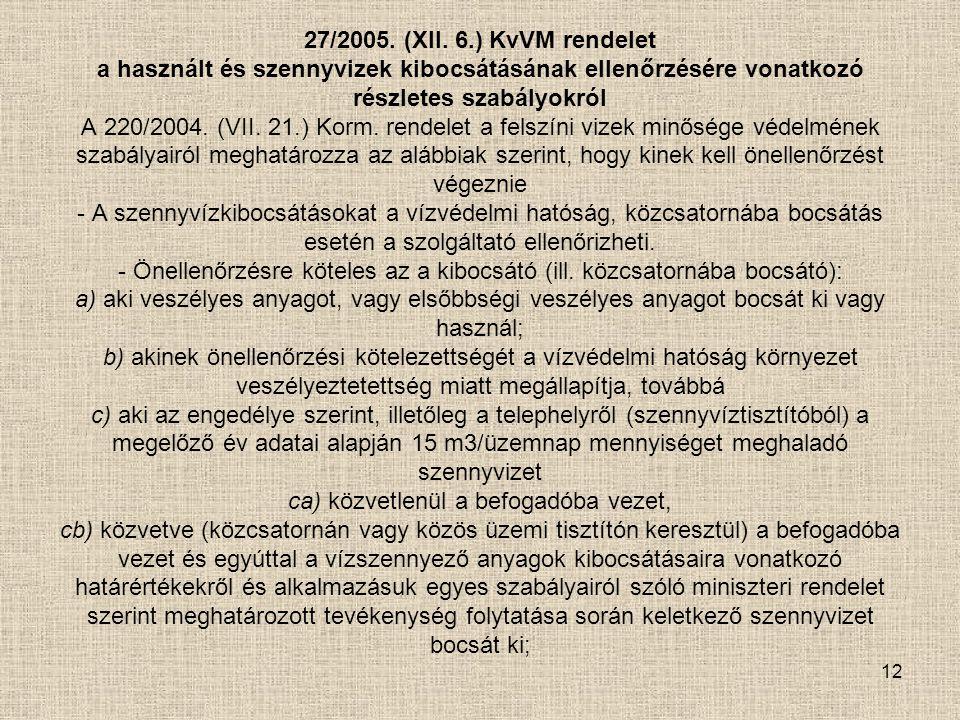 27/2005. (XII.