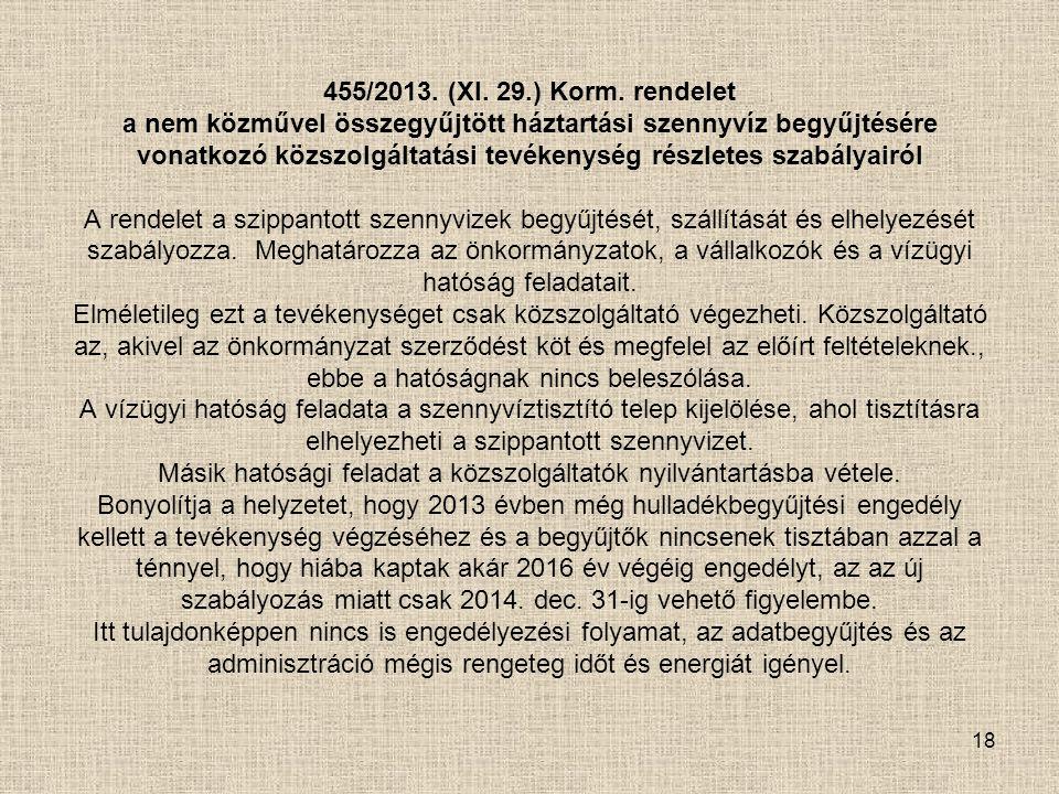 455/2013. (XI. 29.) Korm.