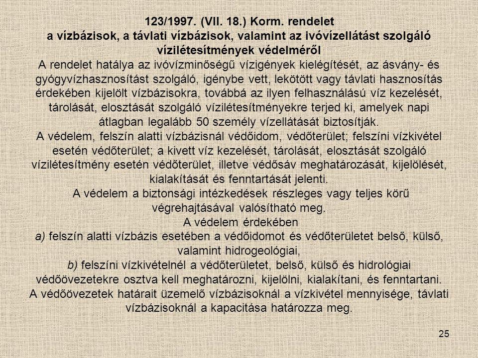 123/1997. (VII. 18.) Korm.
