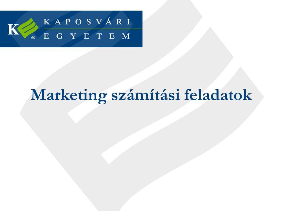 Marketing számítási feladatok