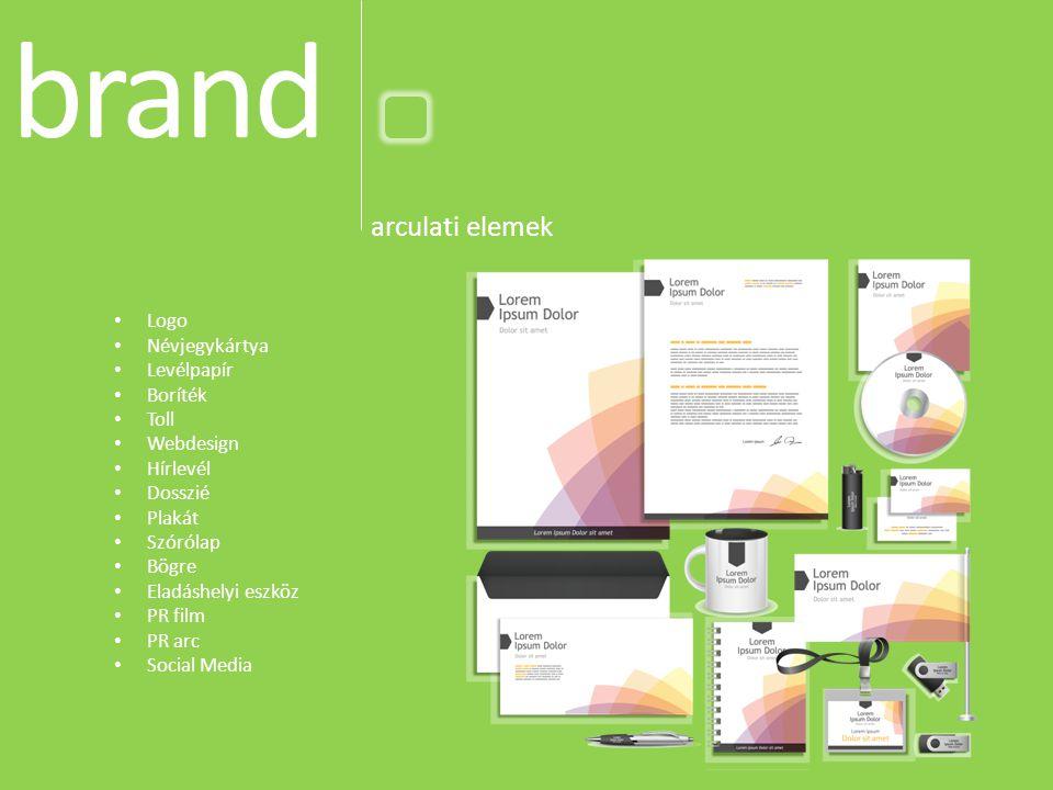 brand arculati elemek Logo Névjegykártya Levélpapír Boríték Toll