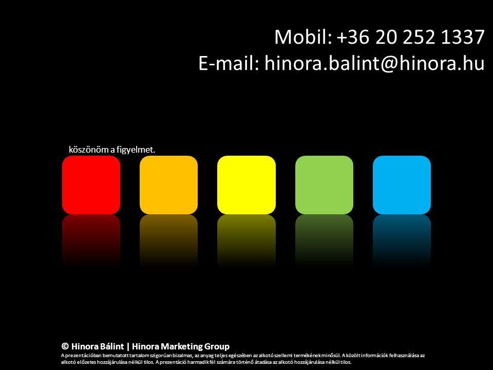 Mobil: +36 20 252 1337 E-mail: hinora.balint@hinora.hu