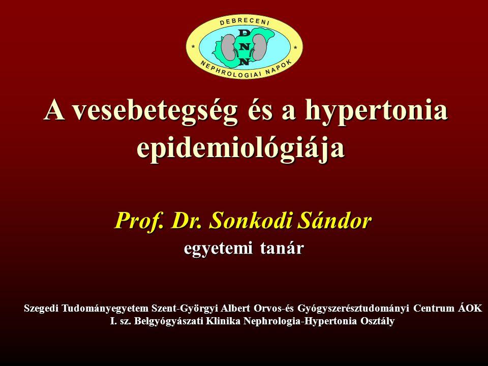 A vesebetegség és a hypertonia epidemiológiája