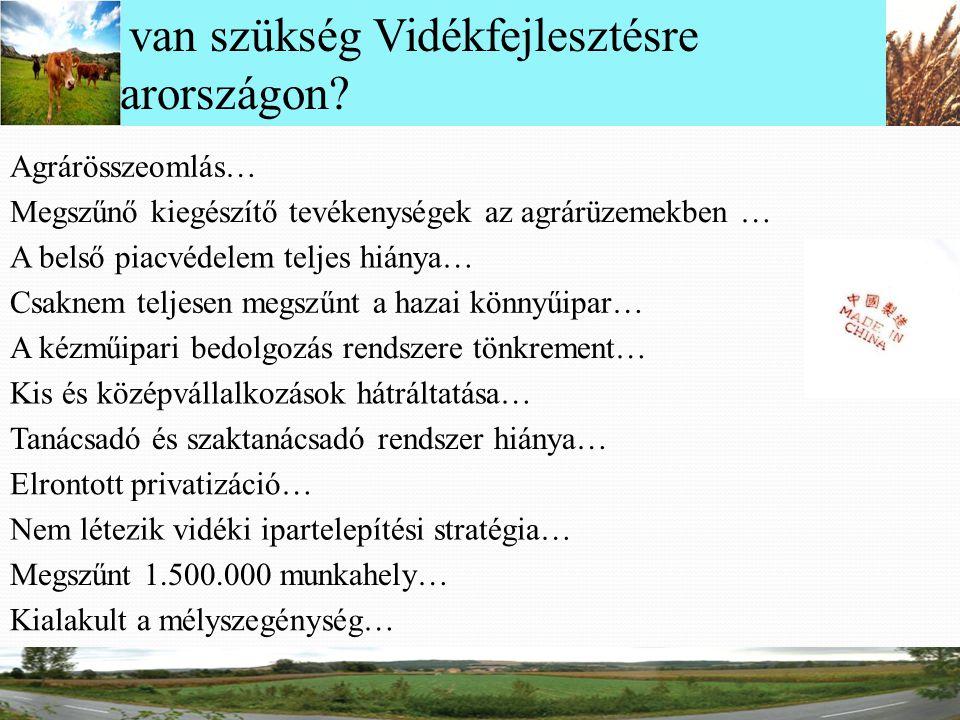 Miért van szükség Vidékfejlesztésre Magyarországon