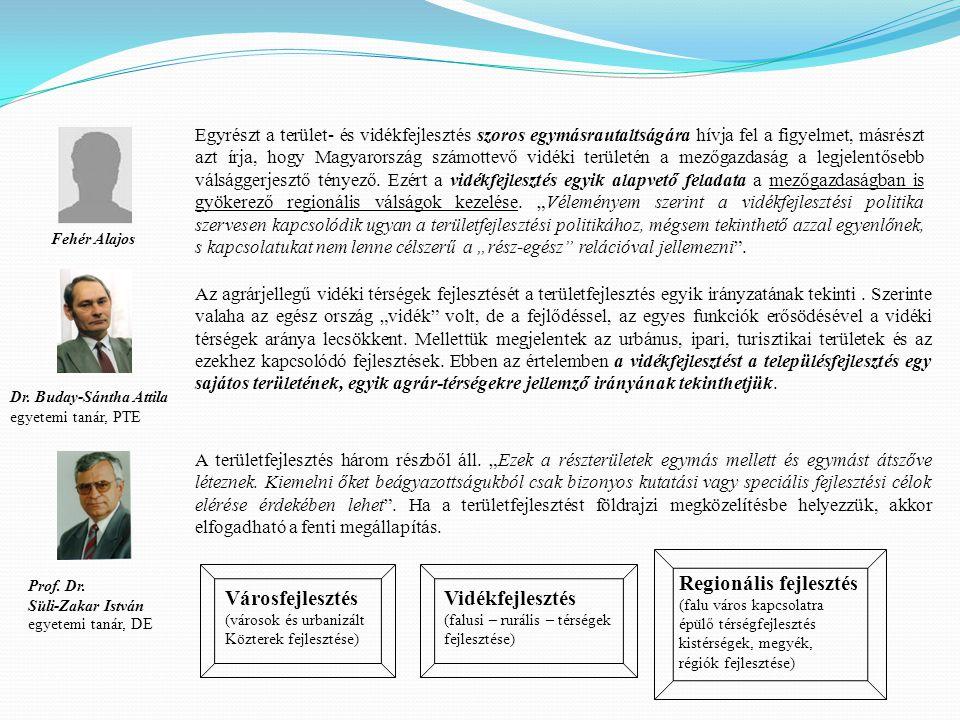 Regionális fejlesztés Városfejlesztés Vidékfejlesztés