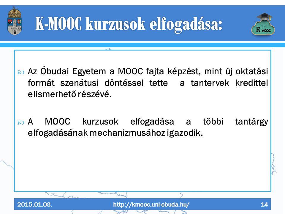 K-MOOC kurzusok elfogadása: