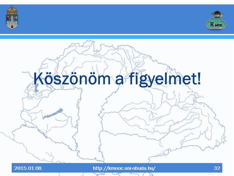 Köszönöm a figyelmet! 2015.01.08. http://kmooc.uni-obuda.hu/