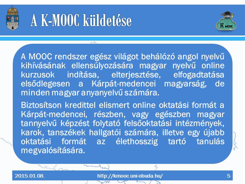 A K-MOOC küldetése