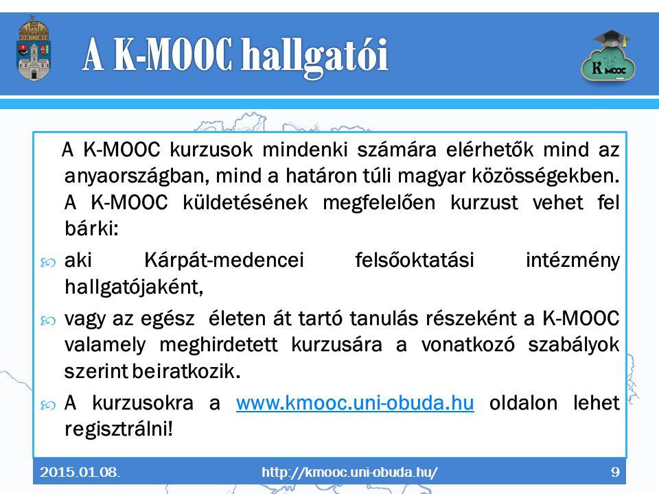 A K-MOOC hallgatói