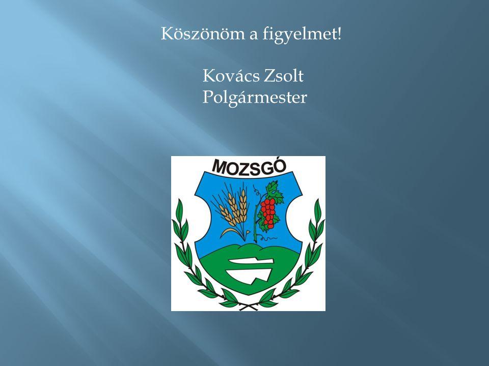 Köszönöm a figyelmet! Kovács Zsolt Polgármester