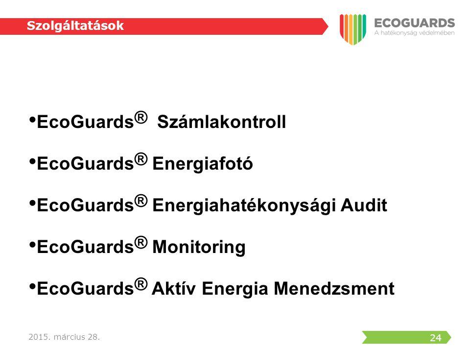 EcoGuards® Számlakontroll EcoGuards® Energiafotó