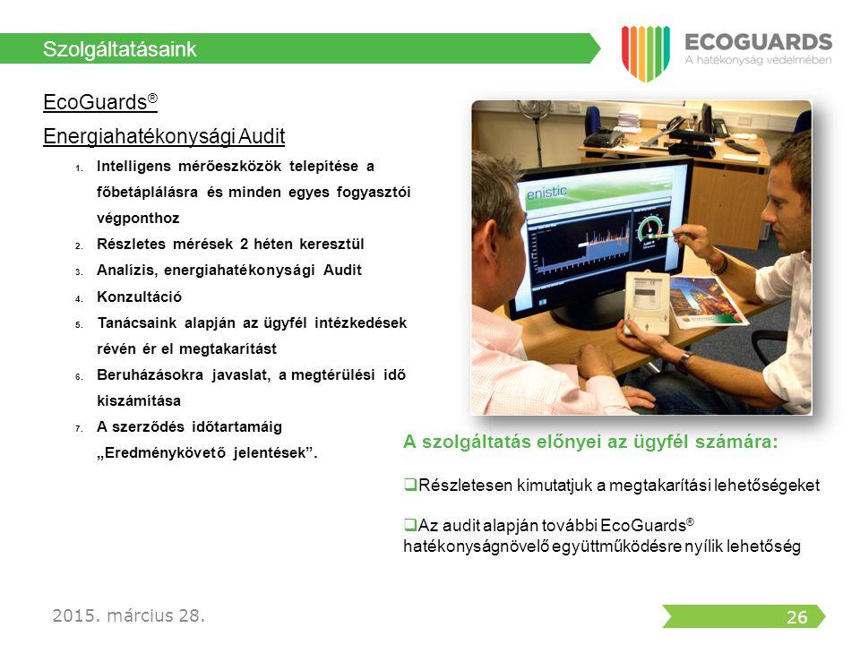 Szolgáltatásaink EcoGuards® Energiahatékonysági Audit