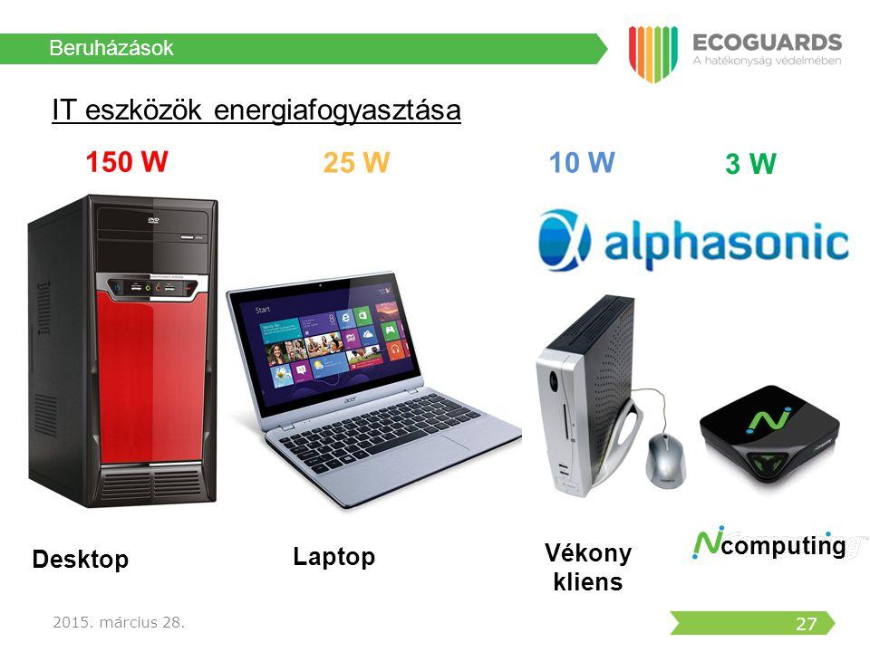 IT eszközök energiafogyasztása