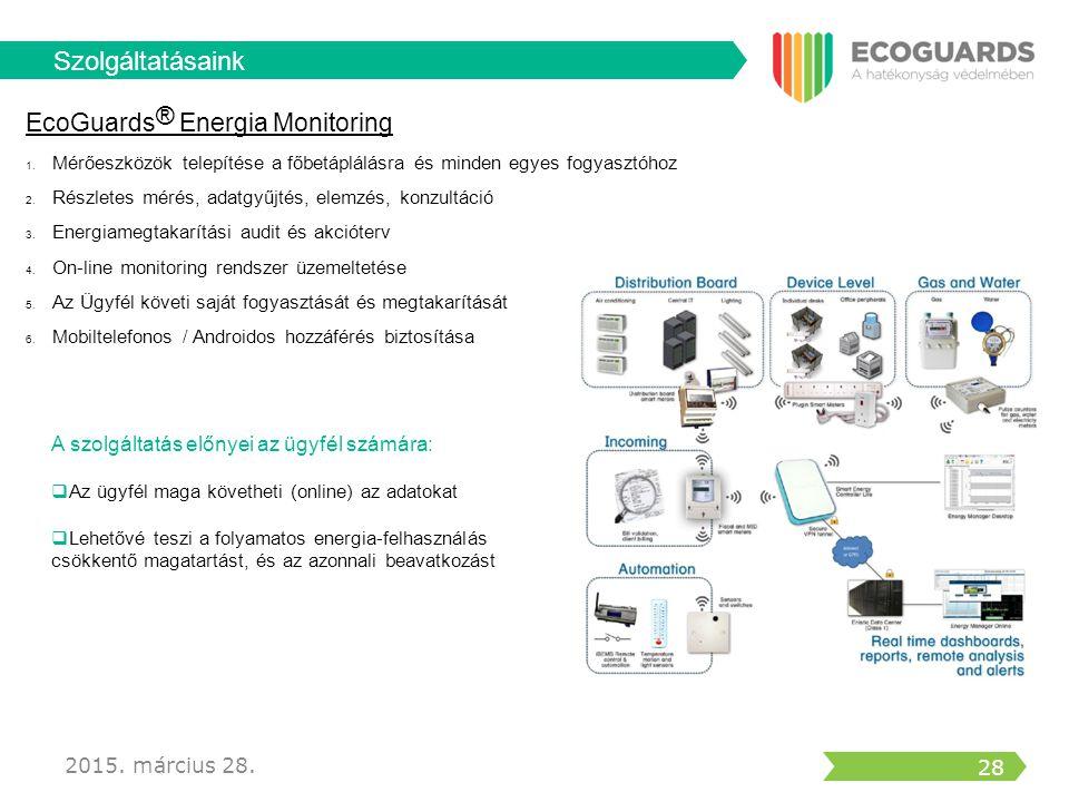 Szolgáltatásaink EcoGuards® Energia Monitoring