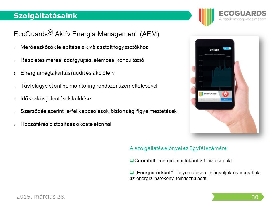 EcoGuards® Aktív Energia Management (AEM)