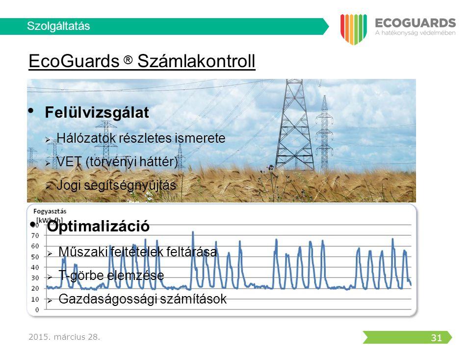 EcoGuards ® Számlakontroll