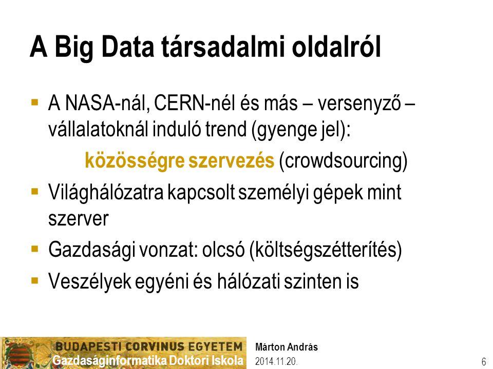 A Big Data társadalmi oldalról