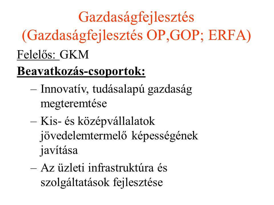 Gazdaságfejlesztés (Gazdaságfejlesztés OP,GOP; ERFA)