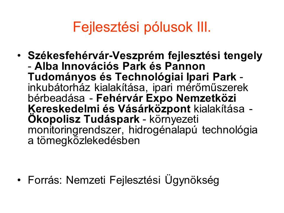 Fejlesztési pólusok III.