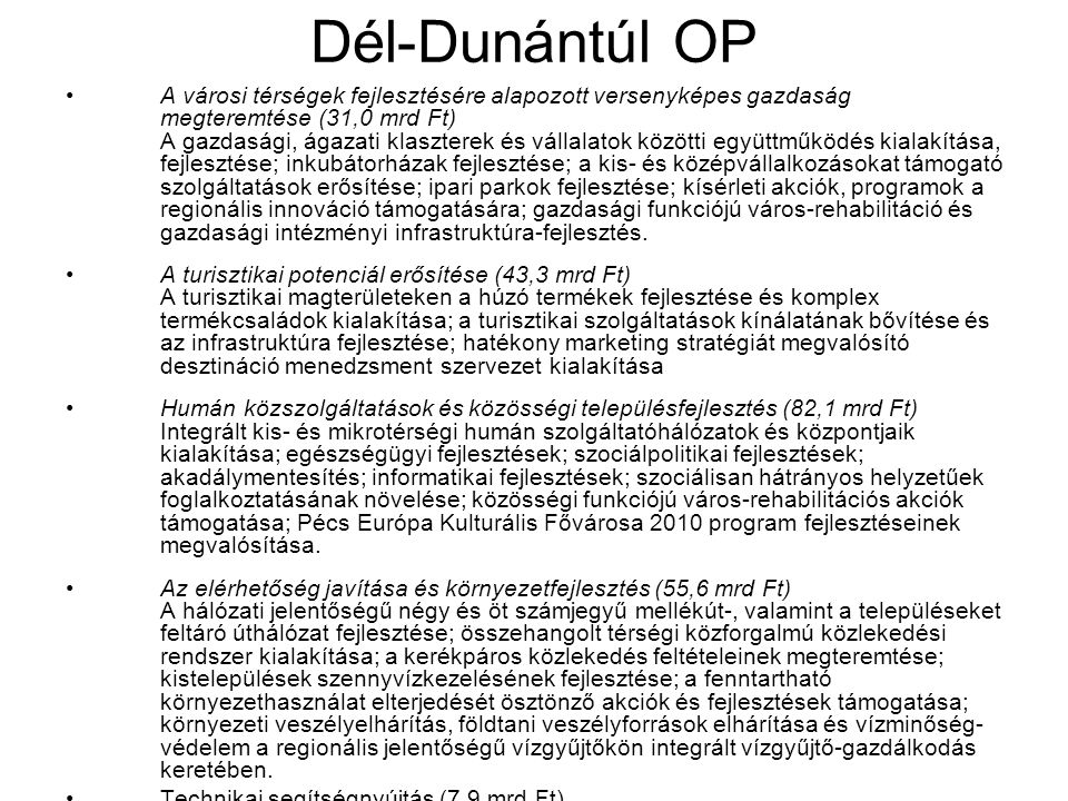 Dél-Dunántúl OP