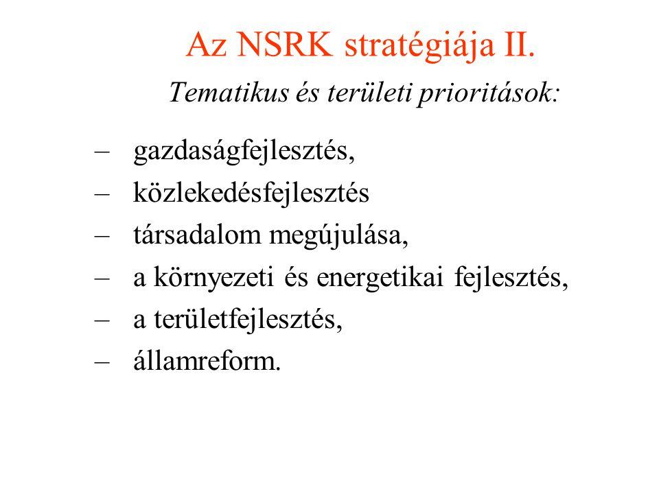 Tematikus és területi prioritások: