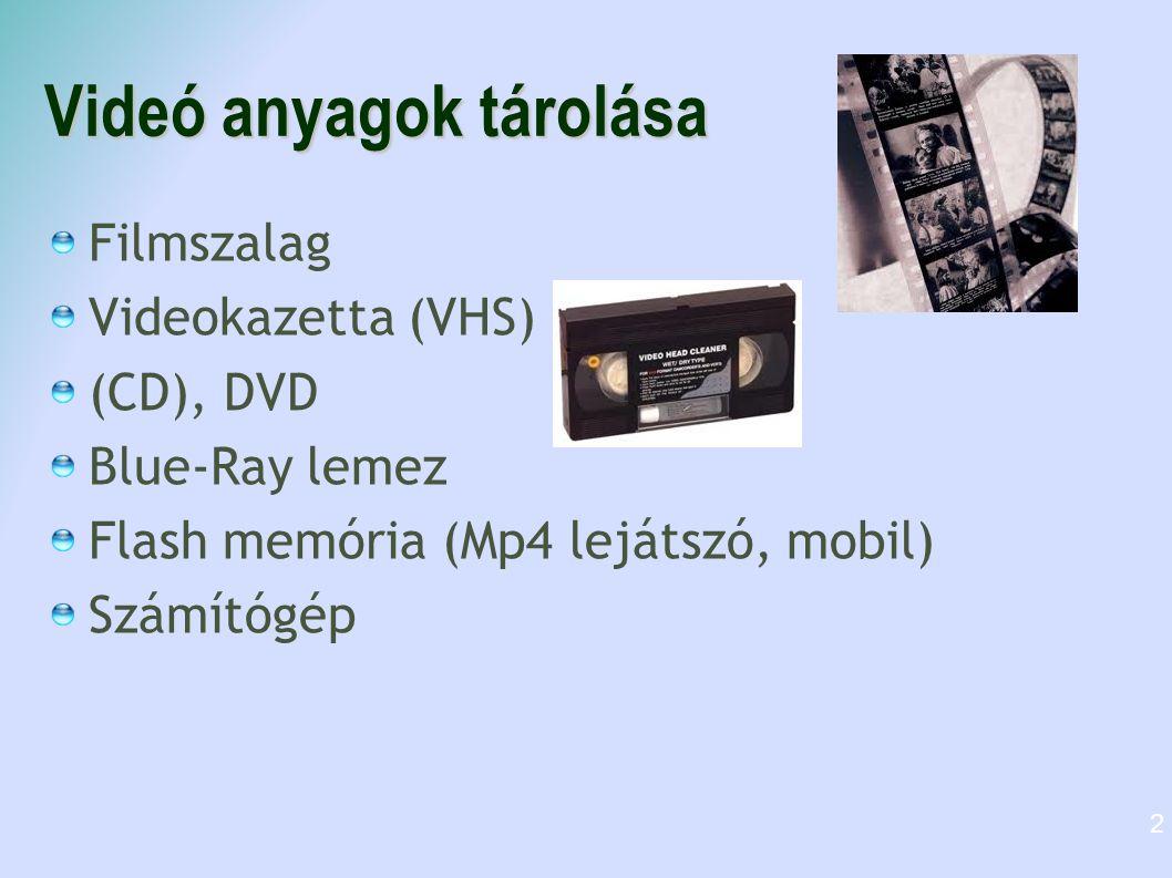 Videó anyagok tárolása