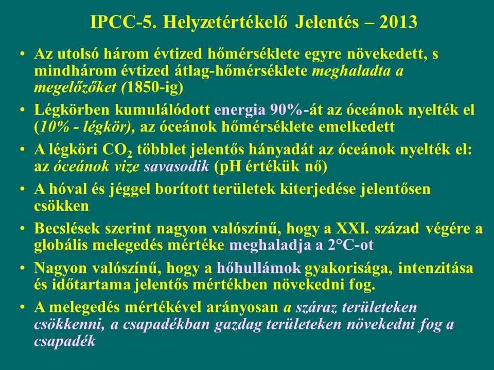 IPCC-5. Helyzetértékelő Jelentés – 2013