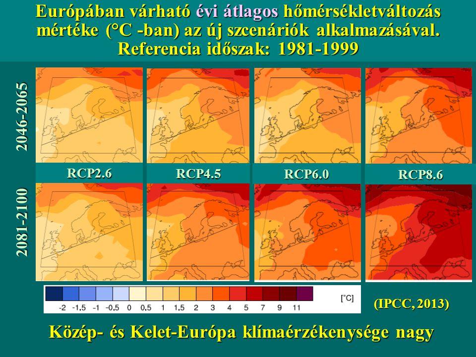 Közép- és Kelet-Európa klímaérzékenysége nagy