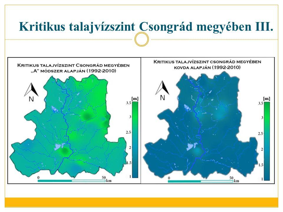 Kritikus talajvízszint Csongrád megyében III.