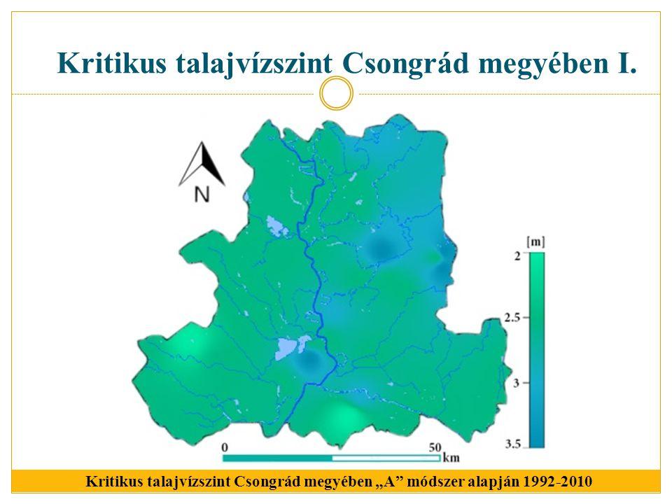 Kritikus talajvízszint Csongrád megyében I.