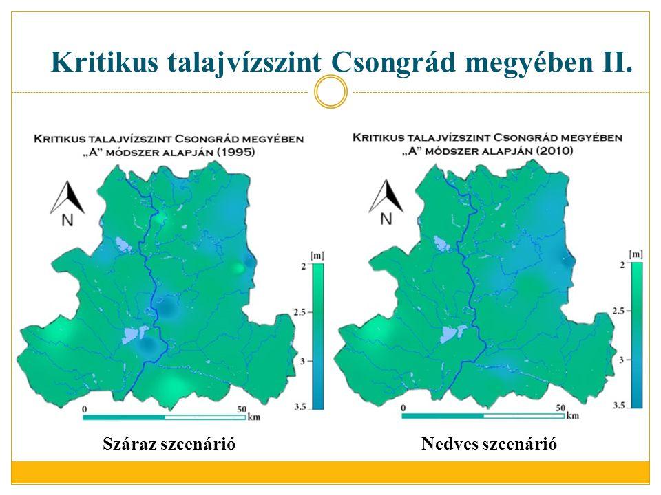 Kritikus talajvízszint Csongrád megyében II.