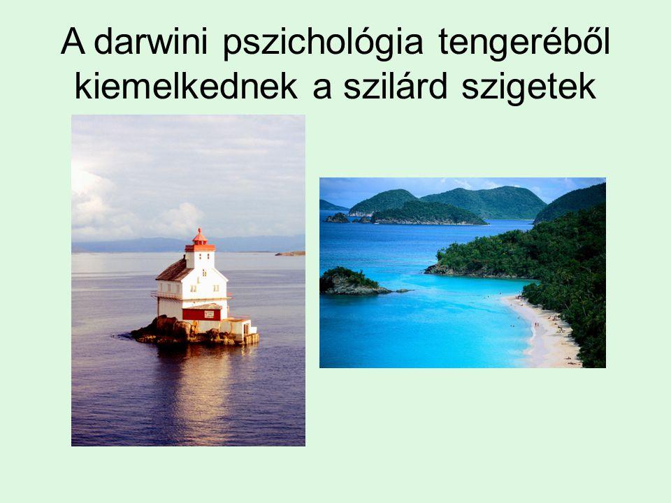 A darwini pszichológia tengeréből kiemelkednek a szilárd szigetek