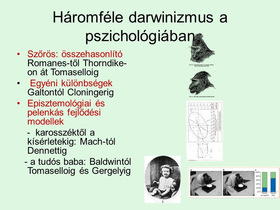 Háromféle darwinizmus a pszichológiában