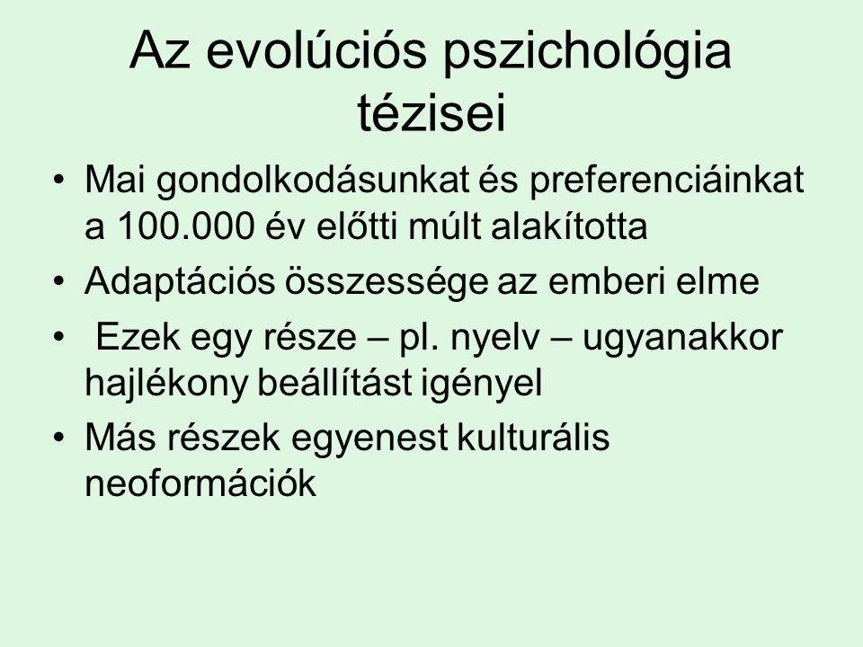 Az evolúciós pszichológia tézisei