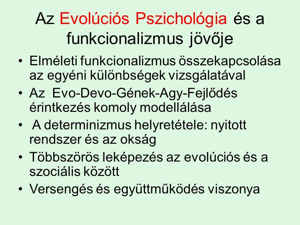 Az Evolúciós Pszichológia és a funkcionalizmus jövője