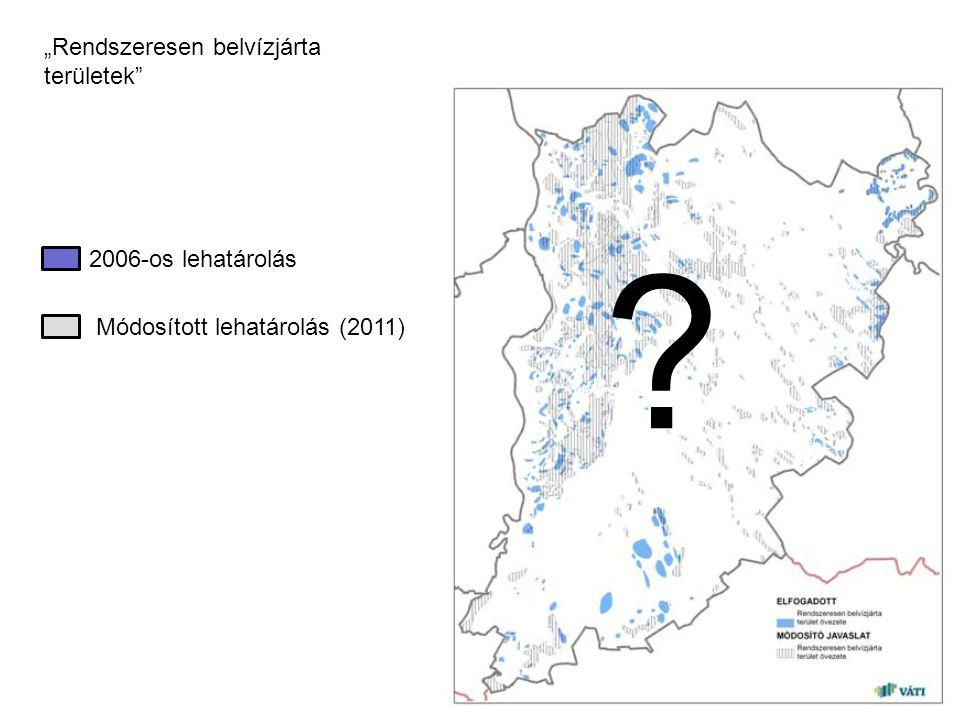 """""""Rendszeresen belvízjárta területek 2006-os lehatárolás"""